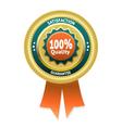 Satisfaction guarantee label eps 10 vector image