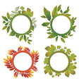 autumn leafs design elements vector image vector image