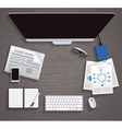 Table Working Businees Meeting High Angle View vector image