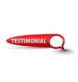 testimonial button vector image