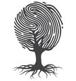 Finger print tree vector image