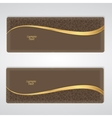 Elegant brown leather horizontal banner with a vector image