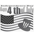 gray independence day 4 july vector image