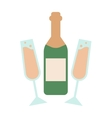 Champagne bottle alcohol drink object and vector image