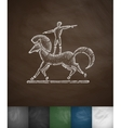 circus horse icon Hand drawn vector image