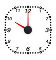 clock face ten oclock vector image
