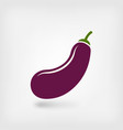 eggplant vegetable symbol vector image