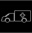 emergency car it is icon vector image