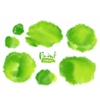 Green watercolor stains set vector image