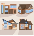 Houses cottages buildings villas architecture vector image