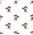 minimalistic young delivery boy character vector image
