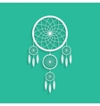 white dream catcher with shadow vector image