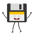 floppy character cute icon vector image