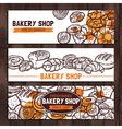 Bakery Shop Design Sketch Bakery Banners vector image