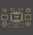 set of vintage floral frames and line vector image vector image
