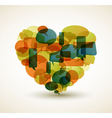 cartoon bubble heart vector image