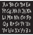 chalk alphabet set vector image