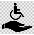 Disabled sign Save or protect symbol vector image