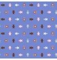 Cartoon animal doodles seamless pattern vector image