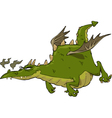 green flying dragon vector image