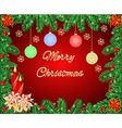 Merry Christmas frame with a candlestick vector image