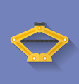 Screw jack icon Flat style vector image