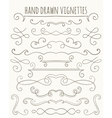 Set of hand drawn vignettes vector image