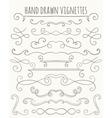 Set of hand drawn vignettes vector image