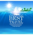 Summer travel poster vector image