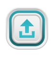 Upload button isolated vector image