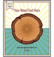 Wood poster template vector image