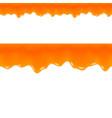 Orange Jam Drips Grapefruit Juice Seamless Border vector image vector image