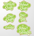 Decorative Text Label vector image