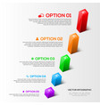 Modern 3D charts infographic vector image vector image