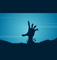 Halloween with hand zombie background vector image