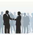 Meeting on the street vector image vector image