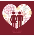 folk floral circles abstract couple in love vector image
