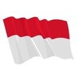 political waving flag of indoneasia vector image vector image