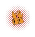 Rancher gloves icon comics style vector image vector image