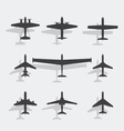 Plane Black Icon vector image