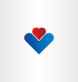 business abstract heart icon vector image