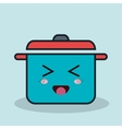 cartoon pot cooking with facial expression vector image