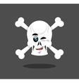 Laughing Skull winks emotion Crossbones Cheerful vector image