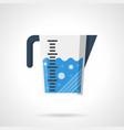 liquids measuring cup flat color icon vector image