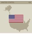 Map and Flag of USA vector image