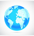 polygonal world globe vector image
