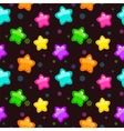 Seamless pattern with colorful bright stars vector image