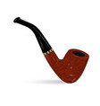 smoking pipe on white background vector image
