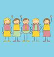 Stick figure Family vector image