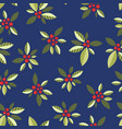 stylized berries on a blue background vector image